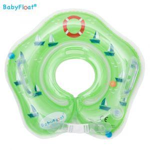 BabyFloat Zeilboot - Zwemband voor om de nek - Groen